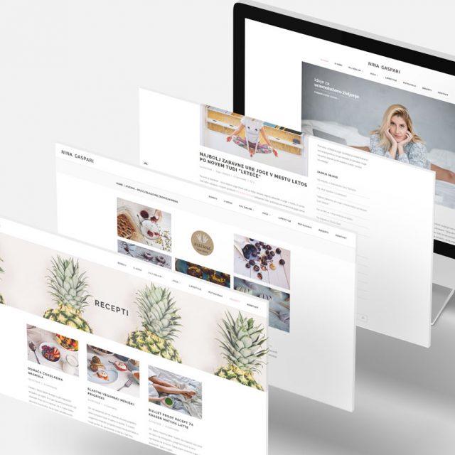 Oblikovanje - spletna stran Nina Gaspari