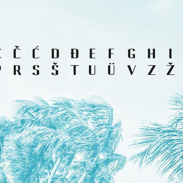 Masha Mazi črkovna družina Borneo tipografija