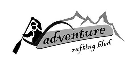 Adventure rafting Bled grafično oblikovanje