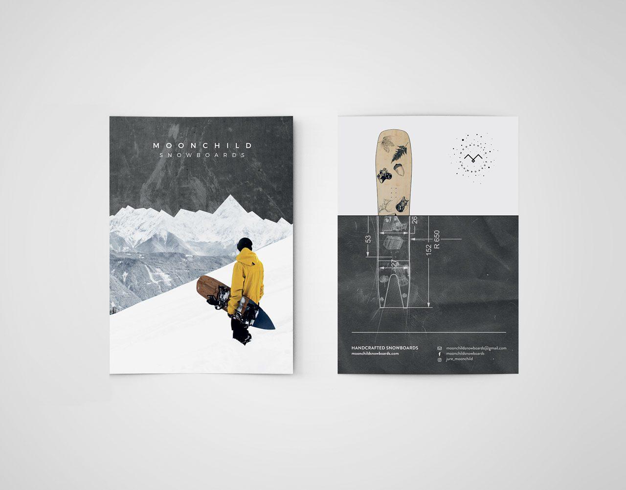 Moonchild snowboards letak oblikovanje