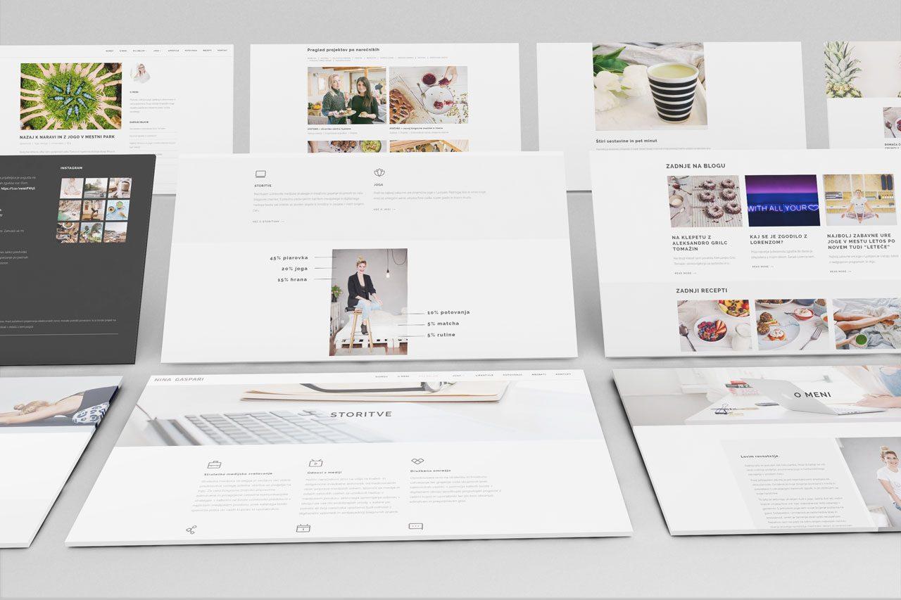 Oblikovanje spletnega mesta Nina Gaspari