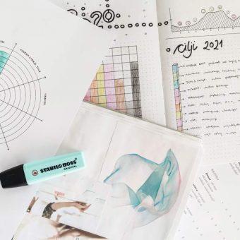 Načrtovanje novoletnih ciljev za vizualni tip ljudi